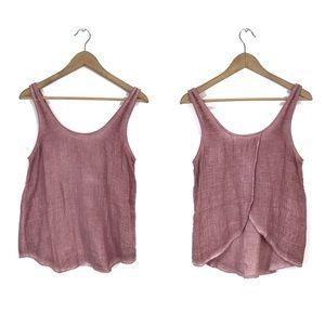 Cloth & Stone Rose Pink Gauzy Envelope Tank Top